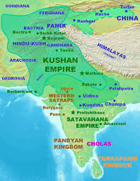 Map Of Ancient China by Kushan Empire Wikipedia