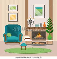 vector set flat art sofas armchairs stock vector 615642848