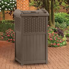 suncast trash hideaway receptacle bj s whole club patio