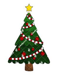tree with single color decorations vector clipart