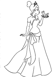 princess tiana printable coloring pages paginone biz