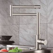 solid stainless steel pot filler kitchen bar sink faucet brushed