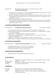 Examples Of Chronological Resume by Peachy Design Ideas Academic Resume Examples 3 Chronological