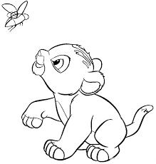 lion king coloring pages nala simba