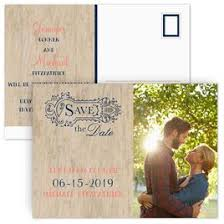 cheap save the date postcards rustic save the dates invitations by