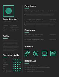Outstanding Resume Templates 17 Free Tools To Create Outstanding Visual Resume