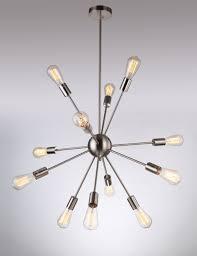 deking 12 lights pendant light black modern satellite style