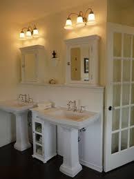 wooden pedestal sink storage cabinet organizer for bathroom white
