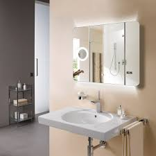 eneo 90 backlit mirror with magnifier streamline products