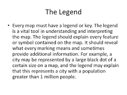 what is a map legend components of a map the title the most basic component of a map