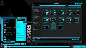 windows 8 designs windows 8 themes black blue xux ek