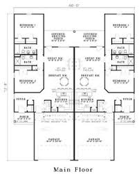 Multi Family Home Floor Plans First Floor Plan Of Ranch Multi Family Plan 54419 Floor Plans