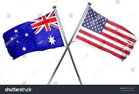 Austailia Flag Australia Flag American Flag Isolated On Stock Illustration