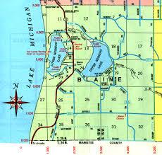 Mi Map Map Of Manistee County Michigan Michigan Map