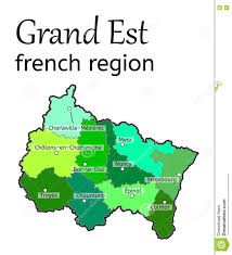 France Region Map by Grand Est French Region Map Stock Vector Image 80247724