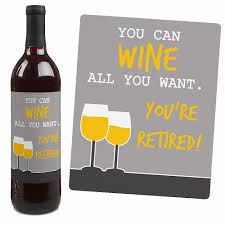 halloween wine bottle labels amazon com retirement party wine bottle labels set of 4