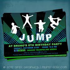 trampoline invitations trampoline party invitation templates