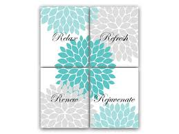 digital download bathroom wall art relax refresh renew