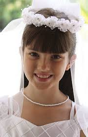 1st communion veils communion veil wreath style ribbon flowers bow two