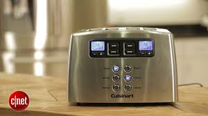 Motorised Toaster Cuisinart Cpt 440 Motorized Metal 4 Slice Toaster Review Cnet