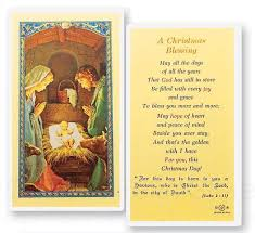 blessing cards a christmas blessing holy card laminated prayer cards 25 pack from