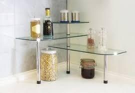eckregal küche küchen eckregal küchenregal glas eckregal 3 ebenen standregal ebay