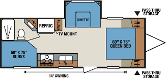 Travel Trailers With Bunk Beds Floor Plans Hvengg Designers Google