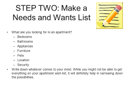 apartment needs steps to renting your first apartment ppt download