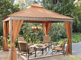 gazebo with curtains and metal furniture best outdoor gazebo