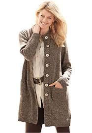 s plus size marled sweater jacket at s clothing
