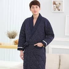 sneaker boutique men pajamas thicken down cotton bath robe casual