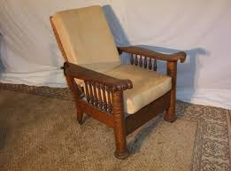 Reclinable Chair Tiger Oak Column Morris Chair This Chair Reclinable Antiques