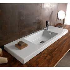 Rectangular Drop In Bathroom Sink by Tecla 3502011 By Nameek U0027s Serie 35 Rectangular White Ceramic Wall