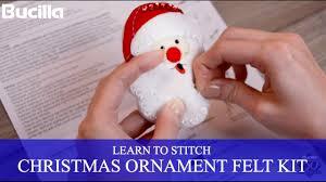 learn to stitch bucilla felt santa ornament