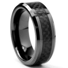 carbon fiber wedding rings bonndorf flat top s ceramic carbon fiber comfort fit wedding