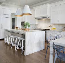 marble kitchen islands spectacular kitchen features a pair of goodman hanging ls