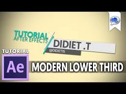 tutorial after effect bahasa adobe after effects tutorial 39 modern lower third bahasa