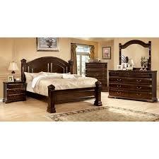 Bed Frames Ta Furniture Of America Tasine Cherry 4 Poster Bedroom Set