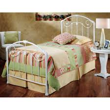Iron Bed Set Maddie Iron Bed In Glossy White Humble Abode