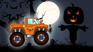 Halloween Cartoon Monsters by Monster Truck In Haunted House Monster Truck Halloween Youtube