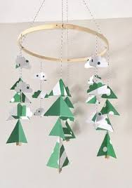 mountain baby mobile woodland mobile cing mobiletree cing