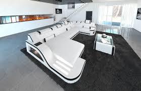 wohnlandschaft xxl u form sofa wohnlandschaft palermo als ledersofa in der u form online kaufen