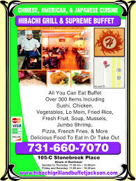 Hibachi Grill Supreme Buffet Menu by Hibachi Grill Jackson Tn 38305 Yellowbook