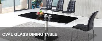 Oval Glass Dining Table Oval Glass Dining Table Modenza Furniture
