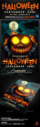 halloween scavenger hunt flyer template by creativb graphicriver
