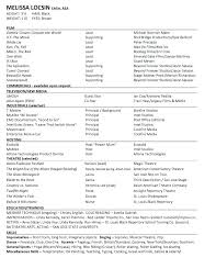 free acting resume template free template for acting resume acting beginner acting resume