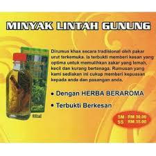minyak lintah gunung hijau shopee malaysia