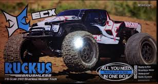 ecx ruckus brushless rc monster truck unboxing
