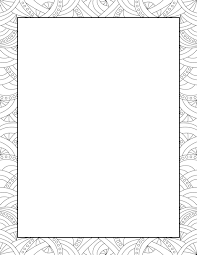 description a black and white abstract pattern around the entire