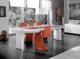 Extending Contemporary White High Gloss Dining Table